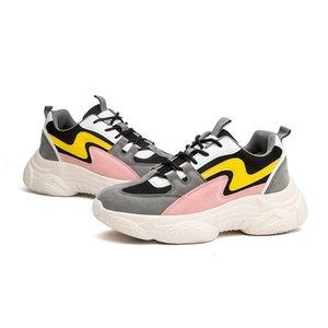 레저 캐주얼 신발 호흡 Skyaxmoto 새로운 스니커즈 여성 봄 Dropshipping를 두꺼운 바닥 아빠 신발 두꺼운 바닥 라운드 발가락