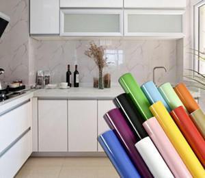 Gabinete de cocina impermeable del papel pintado blanco perla DIY decorativo de película de PVC auto-adhesivo de papel de pared de muebles etiquetas de renovación