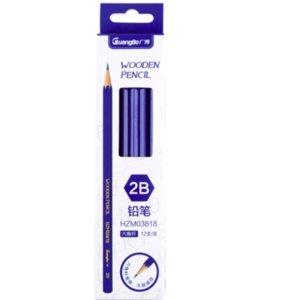Suministros práctica Lápiz Para Dibujo Escribir Bosquejo sombreado Escuela artista 12pcs / paquete de papelería lápiz 2B universal