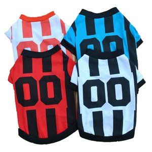 Dog Accessories Cheap Dog Sports Jersey Football Dog Clothes Katten Kleding Pet Supplies T Shirt For Puppy Pets Teddy Poodle E