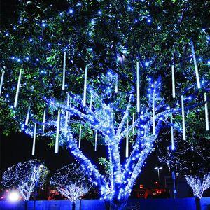 30CM Led Meteorschauer Regen Rohr Garland Außenlichterkette Weihnachtsdekor für Heim Ornament Navidad Natal Neujahr