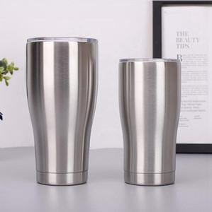 뚜껑 40온스 30온스 20온스 12온스 10온스 커브 절연 진공 머그잔을 두 번 벽 맥주 커피 컵 대용량 LJJP280 스테인레스 스틸 텀블러