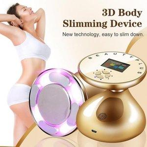 RF LED بالموجات فوق الصوتية الجسم التخسيس مدلك الجلد الرفع تجديد الدهون الشعلة إزالة مكافحة السيلوليت التخسيس أداة شد.