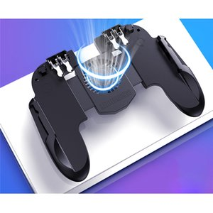 PUBG Mobile Controller Gamepad com refrigerador ventilador de refrigeração para iOS Para Android Samsung Galaxy L2R2 Joystick Não Bateria Plug and play