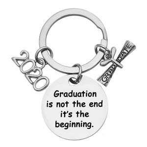 Criativa inoxidável Keychain graduação 2020 não é o fim é o começo para o partido presente da graduação RRA2892 Favor
