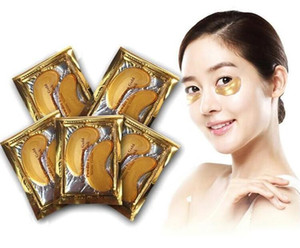 24 Karat Gold Pulver Kristall Gel Kollagenaugenmasken Anti Aging Kristall 24 Karat Gold Pulver Gel Kollagenaugenmasken Blatt Patch Weihnachten
