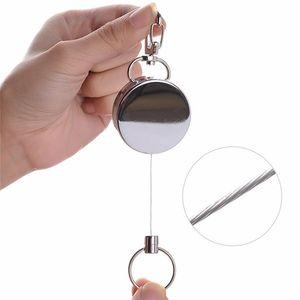 Resilience Stahl Drahtseil Keychain Versenkbare Alarm Ring Tragbare Elastische Schlüsselanhänger Recoil Sportliche Anti Verloren Yoyo Ski Pass Id Kartenhalter