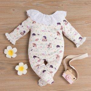 Emmababy Newborn neonate autunno manica lunga rappezzatura del merletto della bella pagliaccetto tuta tutina Clothes Outfit