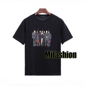 20ss moda de alta qualidade luxo Europa França Paris clássico do logotipo da faixa dos homens do desenhista T camisetas Mulheres Camisetas Rua de manga curta de algodão T-shirt