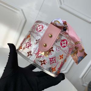 Hottest SCOTT G10203 Frauen MenBags Mini Koffer Transparent Schmuckschatulle Aufbewahrungsbox kleines rundes Schmerz Leder und Metall Klassische herrlich fas