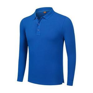 2019 Hombres y mujeres de moda de verano de algodón de manga larga camiseta polo azul uniforme SD-2chongfu-99