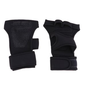 Men Women Weight Lifting Training Wrist Support Wraps,Adjustable Gloves Half Finger Wristband For Fitness, WOD, Workout, Bodybuilding
