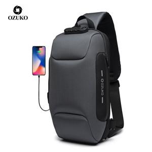 Ozuko 2019 Новый многофункциональный Crossbody сумка для мужчин противоугонные сумки на ремне, мужской водонепроницаемый короткая сумка груди пакет J190719