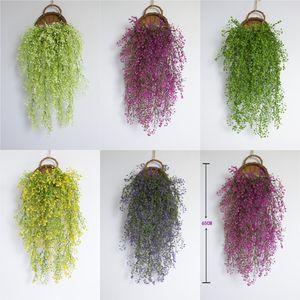 Fiore artificiale foglie di falsi Ivy Hanging pianta verde del rattan a camera festa di nozze Wisteria decorativo Home Living Ornaments VT0287