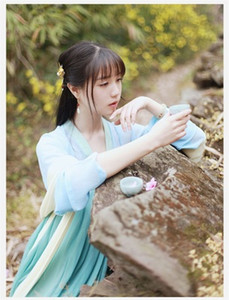 Women Chinese Traditional Tang Dynasty Princess Clothing Oriental Hanfu Clothing National Chinese Folk Dance Stage Dress 90