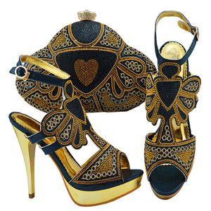 Горячие Sale-jzc004 золотые туфли и сумка для итальянской африканской свадьбы.