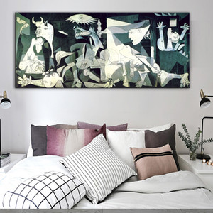 Пикассо Герника Известные искусства Картины Печать на холсте Печать Пикассо Artwork Reproductions настенные украшения дома Картины