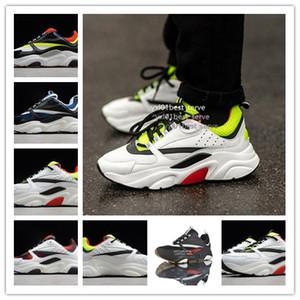 2019 Yeni Gelmesi Lüks Tasarımcı Homme B22 Trainer Sneaker En İyi Kalite Siyah Beyaz Erkek Kadın Moda Baba Spor Koşu Ayakkabıları Boyutu 36-45