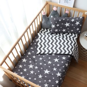 3Pcs Baby Bedding Set For Newborns Star Pattern Kid Bed Linen For Boy Pure Cotton Woven Crib Bedding Duvet Cover Pillocase Sheet CX200609