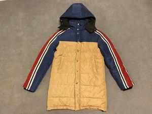 Longue veste d'hiver 2019 New Fashion Tendance jacquard en nylon manches longues à capuche Zip Jacket taille M-3XL MEN'S COAT hommes