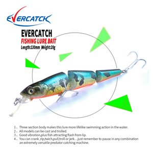 wholesale 130mm 20g Minnow Fishing Lures Swimbait Jointed Sections Hard Artificial Bait Bass Pike Walleye Fishing Wobbler VMC