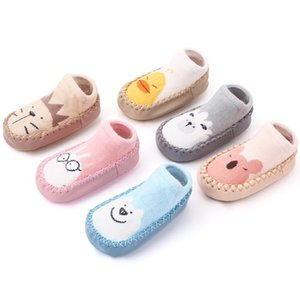 Cotton fabric Cartoon Baby Shoes Slip On Soft Toddler Shoes Non Slip Baby Floor Socks