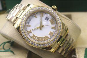 Новый стиль Горячие Продают мужской DayDate автоматических механических часов из нержавеющей часы стала мужской Алмазной 43мм Mens спортивных часы Siper dayjust