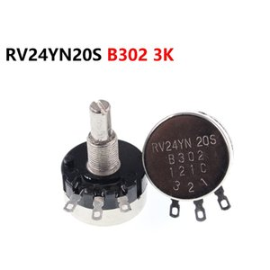 Single turn carbon film potentiometer RV24YN20S B302 3K adjustable resistor