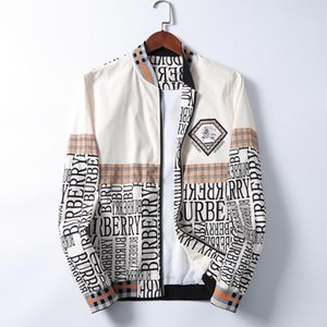 2020 Fashion Jacket Windbreaker Long Sleeve Mens Jackets Hoodie Clothing Zipper with Animal Letter Pattern Plus Size Clothes M-3XL