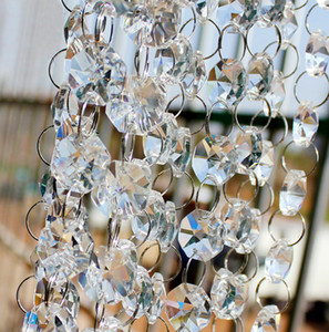 Piombo Crystal Prism perline Ornamento Wedding Strada di cristallo acrilico Ottagonale decorazioni perline Cortina Europa mestiere di DIY Wedding Party 10m / Lot