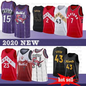 Pascal 43 Siakam NCAA VanVleet Carter Jersey 15 Vince 23 Fred Lowry Tracy 7 Kyle Mcgrady jerseys del baloncesto