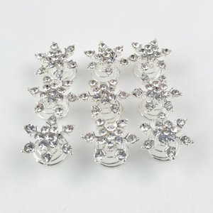 2020 New Women Bridal Headdress Hair Jewelry Snowflake Hair Clips Girl Diamond Hair Accessories Hairpin for Cosplay Party Supplies 500pcs