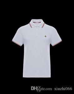 20M-Moncler sıcak tasarımcı Polo men tişört yüksek kaliteli nakış pamuk lüks polo gömlek Avrupa-Amerika gelgit marka gündelik tee gömlek başında