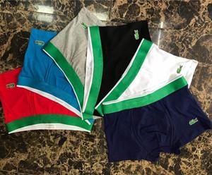 ألوان عالية الجودة مثير الرجال الملاكم تصميم الأزياء القطن مريحة ملابس داخلية رجالي تنفس نمط الملاكم السمك ذكر الملاكم قصيرة M-2XL
