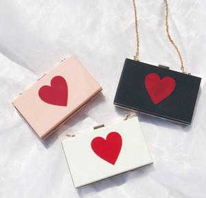 Дизайнер Женщины закрылков Hangbag Luxury Lady цепи плеча мешок моды Яркие сердца Сумки Простые сумки Высокое качество / 7