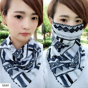 Sunscreen triangle scarf neck mask female UV-proof breathable thin mask open cycling veil sunshade