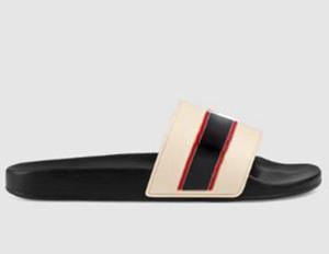 zapatos de mujer / hombre deslizadores de las sandalias de los deslizadores de alta calidad deslizadores de las sandalias planas ocasionales Formadores Slide Eu: 35-45 Con la caja 25