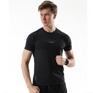 Erkek Egzersiz Tshirt Vücut Gym Jersey Erkek Koşu Tişörtler Hızlı Kuru Sıkıştırma Sport Tişörtler Futbol Eğitim Tişörtlü
