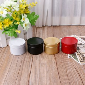 50ml Mini Tin Tea Storage Box Round Metal Case Wedding Favor Organizer Container candy,jewelry Container