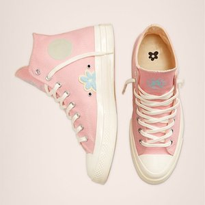 Новый Гольф Le Fleur x Chuck 70 синель Мужчины Женщины Звезда Skateborad обувь Мода GLF 1970 высокий розовый холст кроссовки размер 36-44
