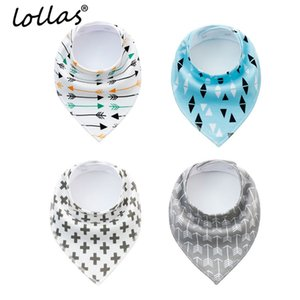Lollas 4pcs lot 2018 New Baby Bibs Boy Girl Burp Cloths Bandana Bibs Baby Bebe Cotton Toddler Triangle Scarf Infant Cloths