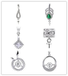 HOPEARL Gioielli di design diverso Ciondolo per montature di perle che fissano i risultati dei fascini in argento sterling 6 pezzi