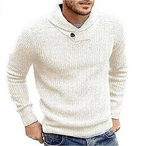 Knitted Mens Tops Casual Long Sleeved Pullover Mens Clothing Winter Designer Mens Sweaters Fashion Solid