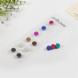 12pcs femmes Foulards Broche bijoux en cristal magnétique Accessoires Abaya mode musulman Petit foulard Hijab écharpe broche aimant
