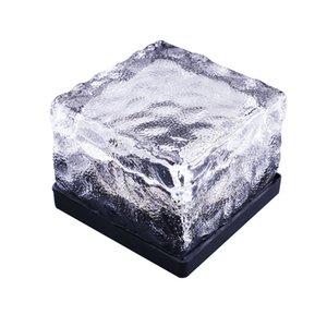 RGB su geçirmez Güneş Enerjisi buz tuğla lamba Şekli Açık Yard Bahçe Güverte Yol lambası Işık Güneş buz lambasını gömüldü