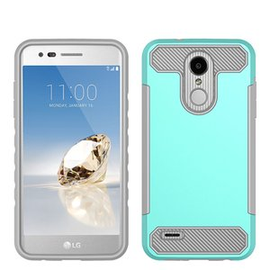 Caja del teléfono Armor para LG Stylo 5 G8 MOTO G7 jugar TPU PC fibra de carbono para Samsung LG Q7 más Alcatel 7 Oppbag
