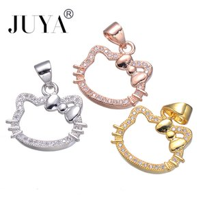 Zircon mignon Bonjour Kitty Charms pour les bijoux Faire femmes bricolage à la main Bracelets Colliers Boucles d'oreilles Pendentifs Accessoires Résultats