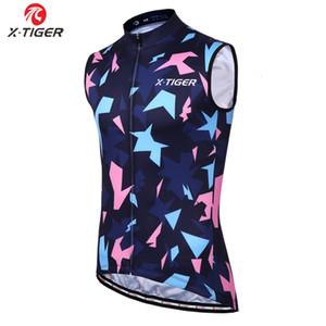 X-Tiger 100% Polyester ärmellos einen.Kreislauf.durchmachenweste Racing Fahrrad-Kleidung Anti-UV-Radtrikot Sommer MTB Bike-Bekleidung 2019