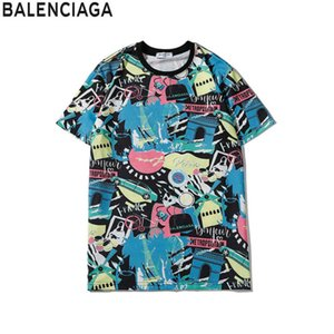 럭셔리 유럽 파리 자수 대비 패치 워크 t- 셔츠 패션 2020Mens 잉글랜드 런던 클래식 T 셔츠 캐주얼 남성 의류 코튼 티