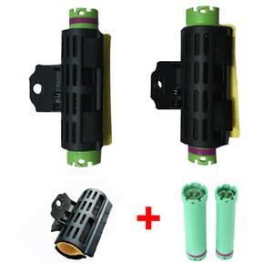 10PCS 24V 디지털 헤어 핫 파마 봉 10PCS 열 유지 스폰지 클립 세트 Electirc 컬 클램프 1292과 롤러 (컬러)를 바